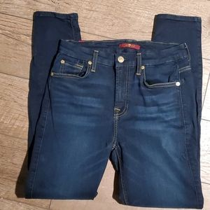 7 for all mankind Skinny Jeans Slim Illusion Sz 27